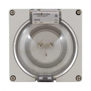 Appliance Inlet 3 Pin 15A 250V AC IP66
